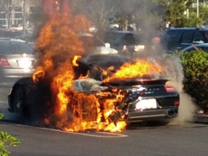 """Ohh, The Humanity!"" Watch A Porsche 911 Turbo S Burn To The Ground"