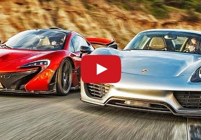 video 2015 McLaren P1 vs. 2015 Porsche 918 Spyder