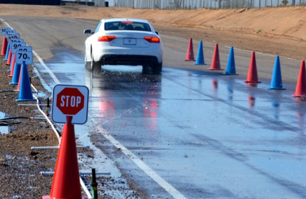 Wet stopping distance