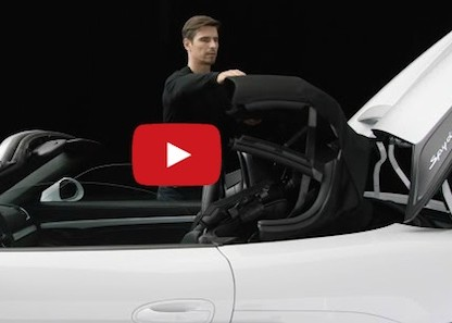 This Is How The Top Of The 2015 Porsche Boxster Spyder Operates