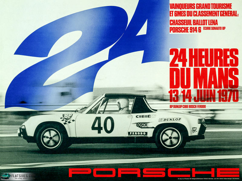 Porsche's mid-engine roadster made history at Le Mans in 1970 with an astonishing performance.  The lone 914/6 GT came home sixth overall, ahead of all other GT cars and classes.