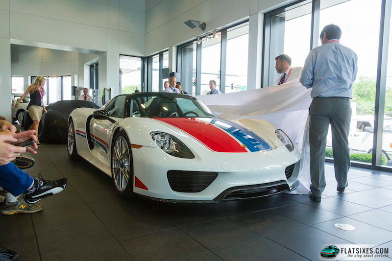 Hurley Haywood's Porsche 918 Spyder Unveiled.  Photo by Dan Van Slyke