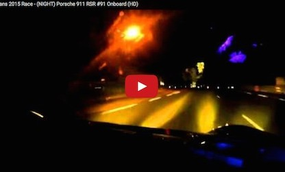 driving le mans at night in a Porsche 911 rsr