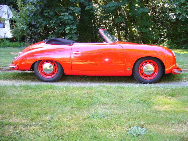 guards red pre a porsche 356 cabriolet for sale