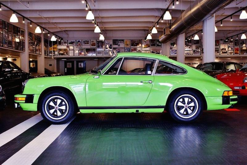 lime green porsche for sale