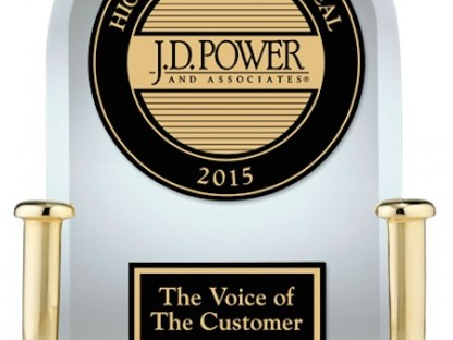 2015 j d power appeal study award for Porsche