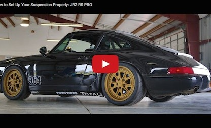 Video: Setting Up Race Suspension On A Porsche 964