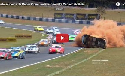Porsche GT3 Cup Car Flips 9 Times During Race. Driver Escapes With Just Bruises!