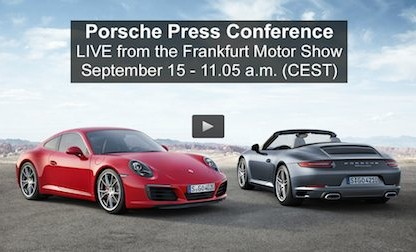 Watch Porsche Introduce The 2nd Generation 991 Live On FLATSIXES.com
