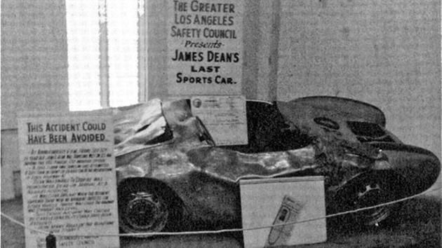 james dean porsche wreckage on display