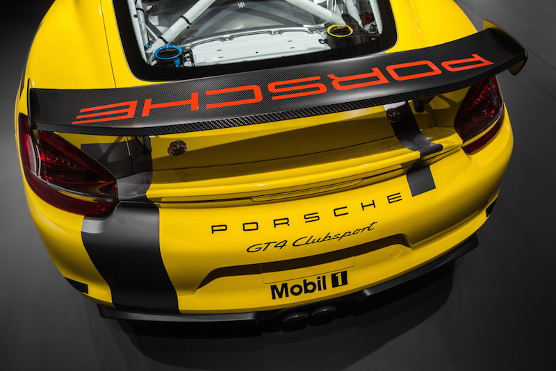 Porsche Cayman GT4 Clubsport rear wing