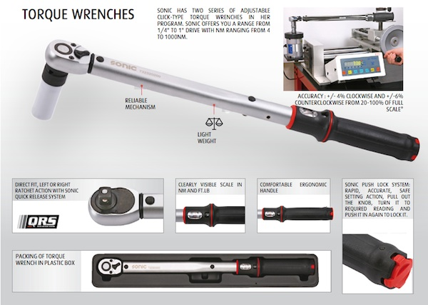 SONIC Tools torque wrench