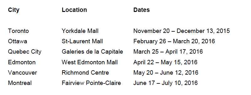 canada emobility display schedule