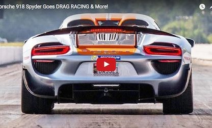 "918 Spyder Drag Races Again and Again at ""Streetcar Takeover"" Atlanta"