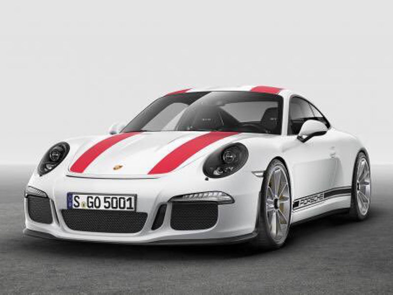 Porsche 911R leaked-stripes
