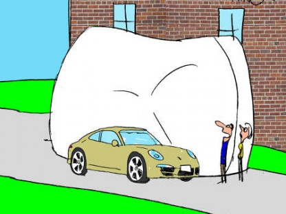 Porsche Cartoon comic strip