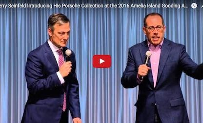 Jerry Seinfeld introducing his Porsche collection on Amelia Island