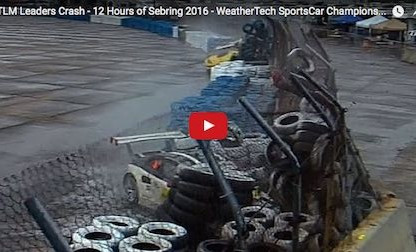 video footage of the Porsche Corvette crash at the 2016 12 Hours of Sebring