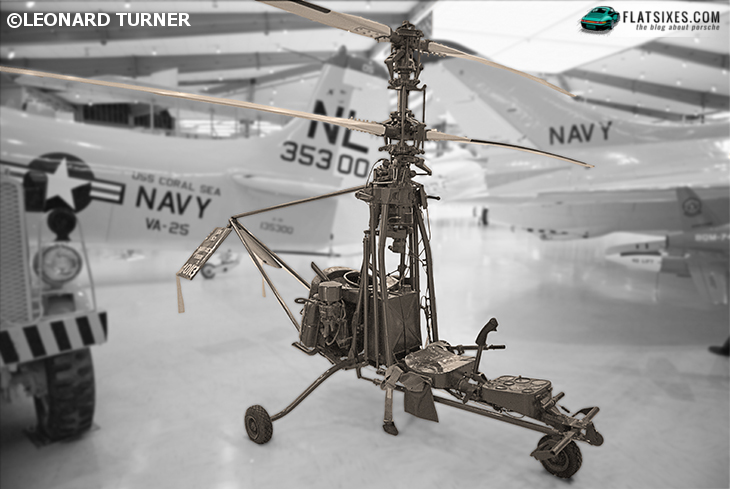 Porsche powered helicopter Y RON Rotorcycle