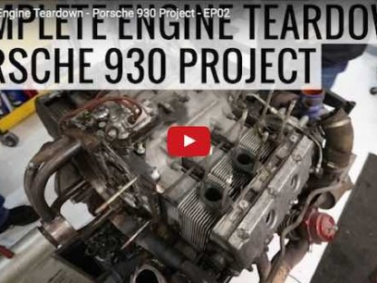 Watch This Detailed Tear Down of a Porsche 930 Air Cooled Engine