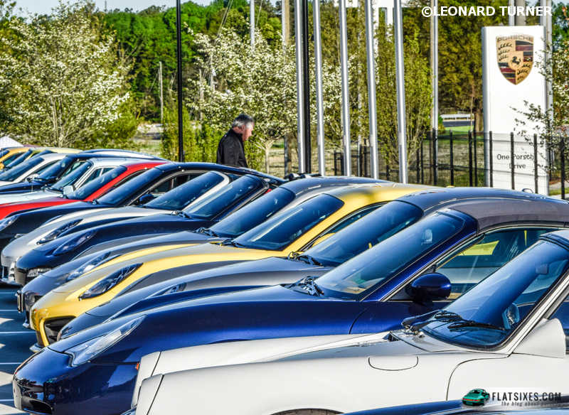 Not all cars could be shown in one area owing to the turnout