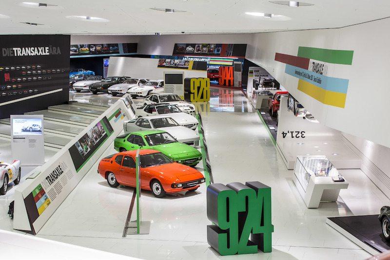 Porsche museum transaxle exhibition