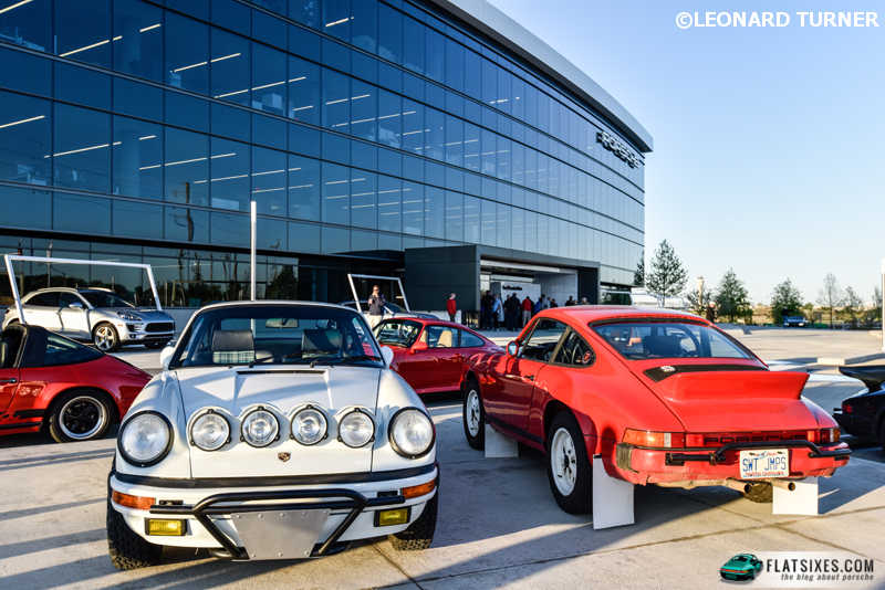 Racer Leh Keen displayed his now infamous Porsche Safari #1 and newly built Porsche Safari #2