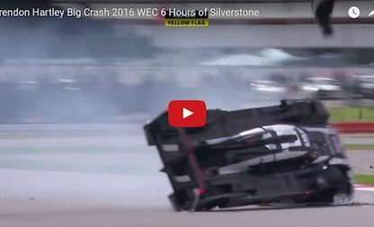 We Still Can't Believe Brendon Hartley's 919 LMP1 Didn't Flip During This Crash