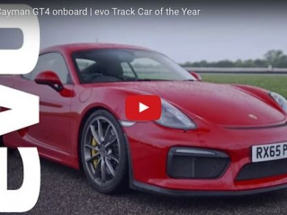Onboard the Porsche Cayman GT4 | EVO Car of the Year
