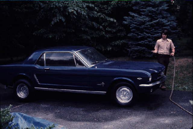 The author and his Mustang
