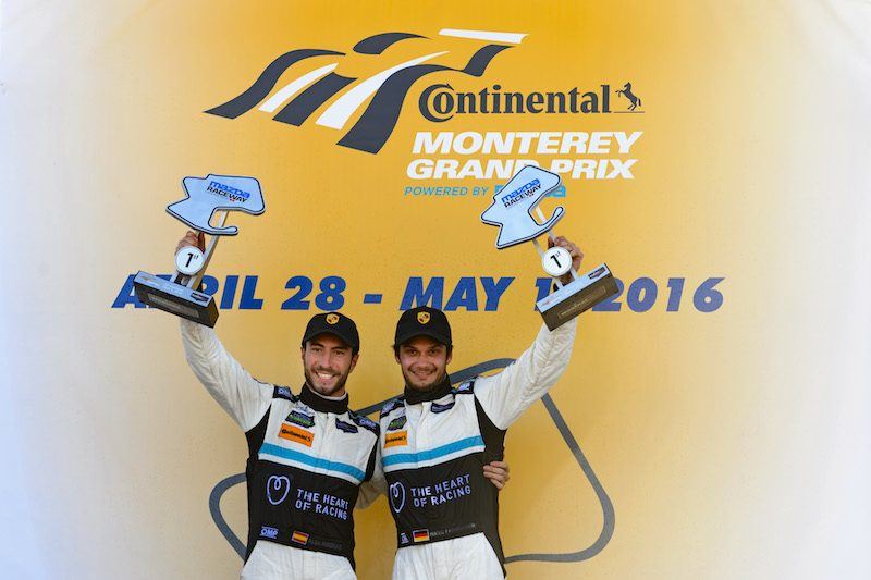2016- Laguna Seca- Alex Riberas and Mario Farnbacher podium celebration