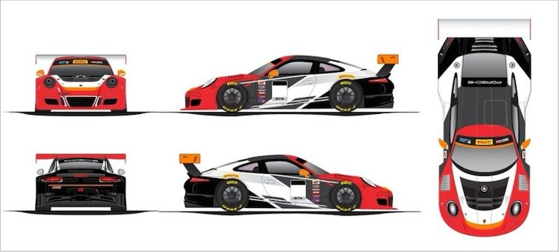 Artist's rendering of Patrick Long's new ride with Wright Motorsports