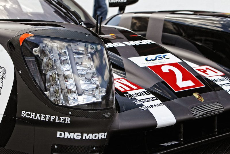 porsche 919 hybrid headlight closeup led