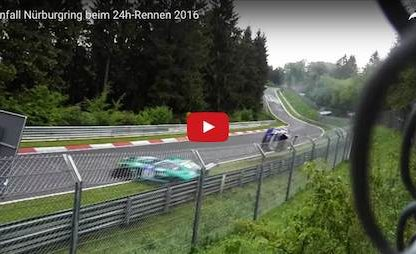 This is What it looks and sounds like when a Porsche Race Car Crashes In front of you.