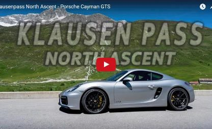 Ascending the Swiss Alps in a Cayman GTS.