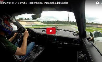 From Hockenheimring to the Italian Job: 318km/h in a 911 R