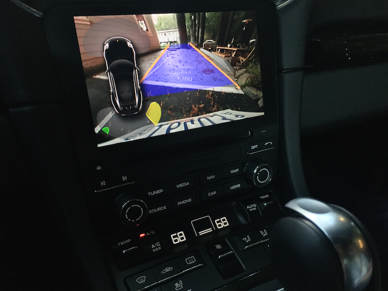 back up camera 2017 porsche 911 turbo