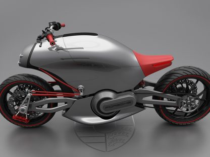 If Porsche built an all electric motorcycle, is this what it would look like?