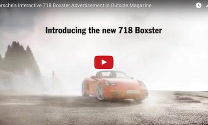 Have You Seen Porsche's Most Recent Interactive Print Advertisement?