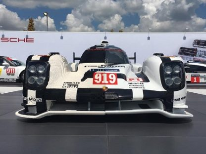 Porsche Unveils New Half-LEGO 919 Hybrid Sculpture At COTA