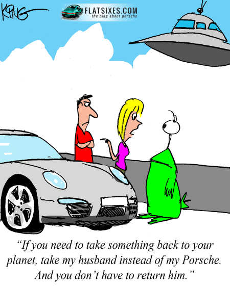 Porsche cartoon september comic strip1