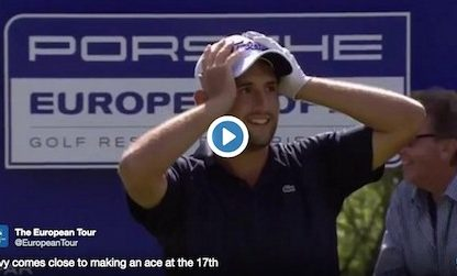 Golf Pro Alexander Levy Misses Shot At Winning New Porsche By Inches