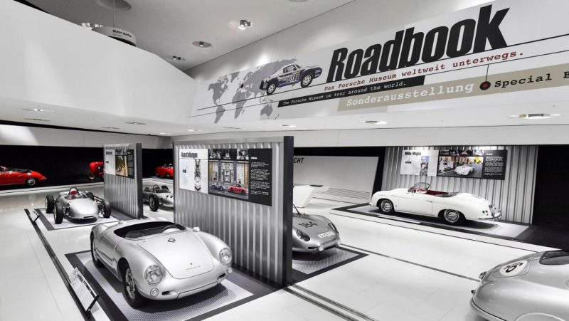 Porsche Museum Road book exhibit