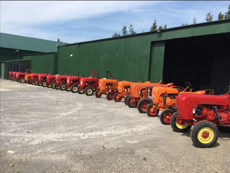 Is this the world's largest collection of Porsche tractors?