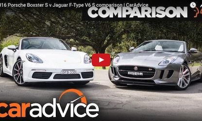 Porsche Boxster vs Jaguar f-type video
