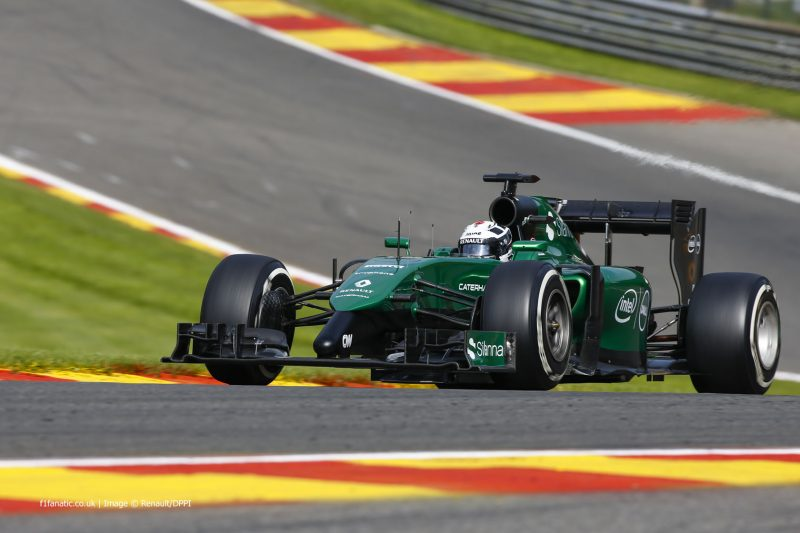 LOTTERER Andre (Ger) Caterham Renault Ct05 Action during the 2014 Formula One World Championship, Belgium Grand Prix from August 21 to 24th 2014, in Spa-Francorchamps, Belgium. Photo Florent Gooden / DPPI