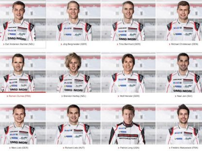 These Are Porsche's 2017 Factory Drivers