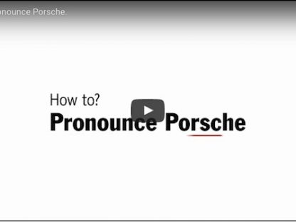 the correct way to pronounce Porsche