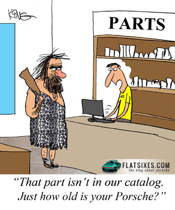 Porsche parts cartoon