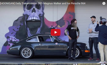 Magnus Walker's 964 at the [Hoonigan] Donut Garage